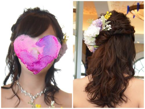 カラードレスヘアスタイル