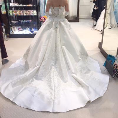 左右対称デザインドレス1後ろ