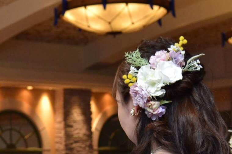 装花のヘアアクセサリー