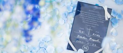 クリスタルチャペルの結婚証明書