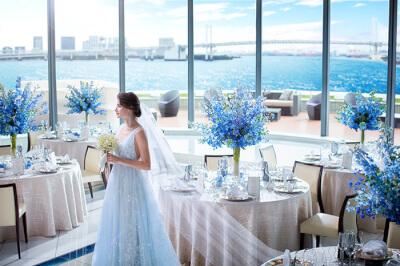インターコンチネンタル東京ベイホテルでの結婚式の様子
