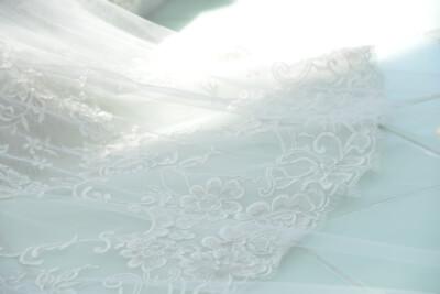 ウェディングドレスのトレーン