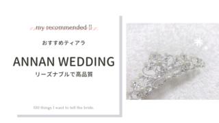 【口コミ】ANNAN WEDDINGのティアラTLM239が大満足だったので紹介したい